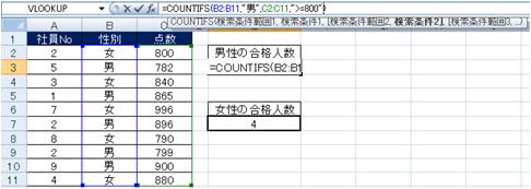 COUNTIFS(カウントイフス)関数:エクセル教室